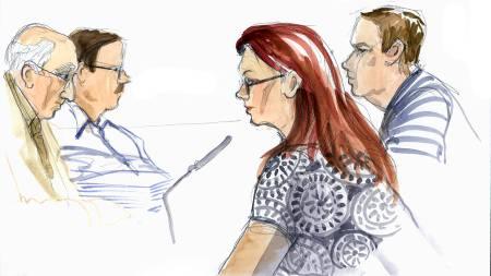 Englas mamma under rettsaken mot Anders Eklund.  (Foto: LOTTA JARLSDOTTER / SCANPIX/SCANPIX)