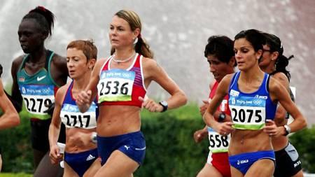 BLE NUMMER 34: Kirsten Melkevik Otterbu (med startnummer 2536)  (Foto: Junge, Heiko/SCANPIX)