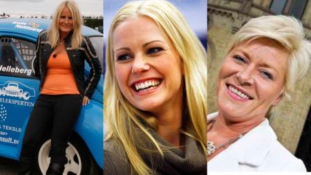 GLEDER SEG: Programleder Camilla Wold Knudsen gleder seg til å se Venke Knutson og Siv Jensen gi gass i «Zebra Grand Prix». (Foto: Madeleine Schøyen)