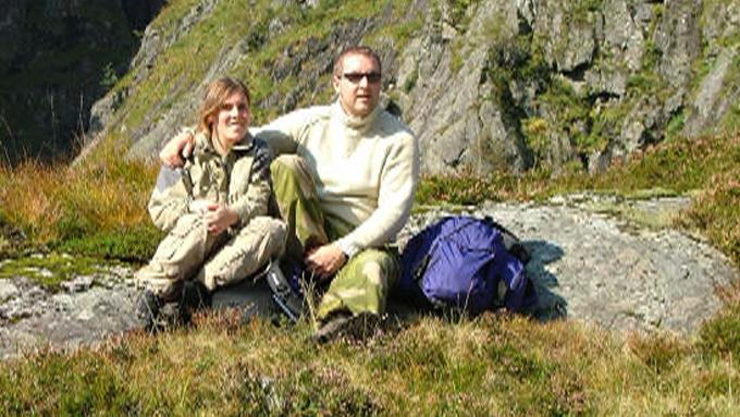 Frode Solberg med kona Vibecke. (Foto: Privat)