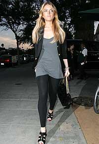 FAN: Lindsey Lohan er en av Hollywoods stjerner som sverger til tights.