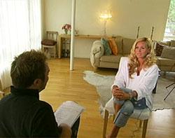USENSURERT: Dorthe Skappel under opptakene til TV-spesialen.
