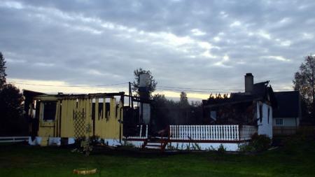Brann i enebolig Nittedal Maura (Foto: Dan Åsen Hansen)