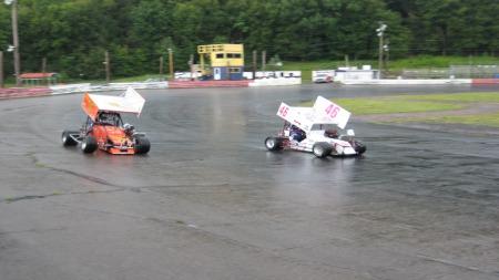 Golden og Elvestad i duell på racingbanen (Foto:  Geir Sindre Breivik)