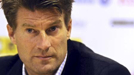 Mallorca-trener Michael Laudrup har sett spillere blitt solgt, uten at forsterkinger har kommet inn. Nylig mistet han De Guzman, som har scoret lagets eneste mål denne sesongen til Villarreal (Foto: MICHAL CIZEK/AFP)