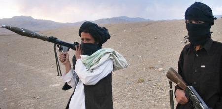 Illustrasjonsbilde: Talibansoldater i det vestlige Afghanistan.  (Foto: AFP/SCANPIX, ©mh/tbr)