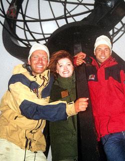 FINALIST: Knut-Ivar Pelerud (t.v.) kom på 2.plass i TVNorges «71 grader Nord». Gunnar Hagen vant, mens Tina B. Christensen kom på tredjeplass.