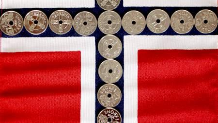 STERK: Den norske kronen er på sitt sterkeste siden 2003. (Foto: Johannessen, Sara/SCANPIX)