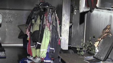 Barnehagen har fått store brann- og røykskader.  (Foto: TV 2)
