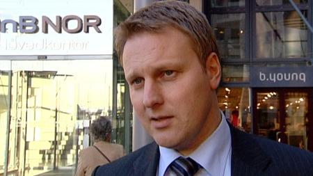 IKKE KRISE: DnBs talsmenn beneker at banken var nær konkurs. (Foto: Gisle Bjorå/Tom Bundli , ©TV 2)