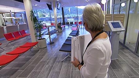 Tomme lokaler. Interessen for skattelisene på papir er ikke lenger det den en gang var.  (Foto: Frode Fimland/TV 2)