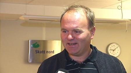 ENSOMT: På skattekontoret i Bodø har en tid til mimring i dag. Før var det full rulle når skattelistene ble offentliggjort, forteller John Kvalø. ( ©TV 2)