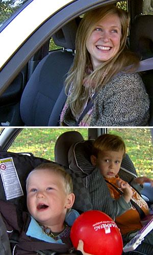 FAMILIEN: I virkeligheten er Espen Eckbo samboer med Johanne Helene Bull Lund (øverst). Sammen har de sønnene Jesper og Herman.