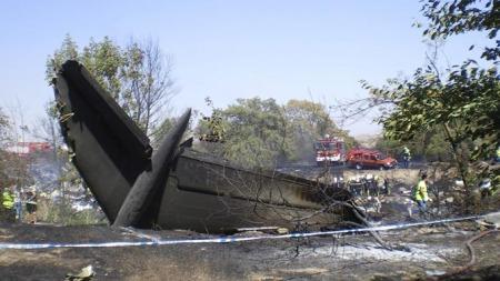 Madrid flyulykke (Foto: EPA/STR/SCANPIX)