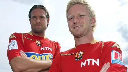 Thorstein Helstad (L) and Norwegian midfielder Fredrik Strømstad  (Foto: JEAN FRANCOIS MONIER/AFP)