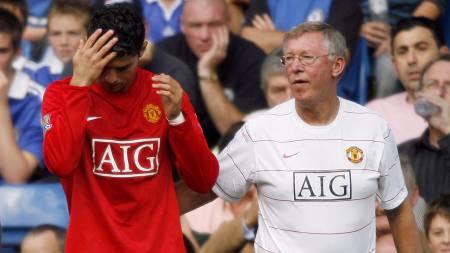 Cristiano Ronaldo og Sir Alex Ferguson   (Foto: GLYN KIRK/AFP)
