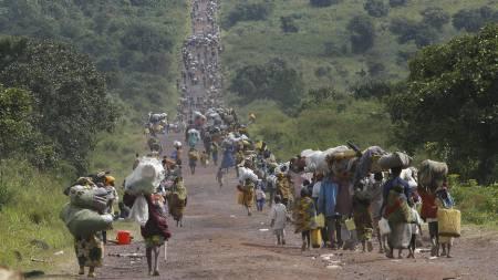 Over en million mennesker er på flukt etter at kampene blusset opp i Øst-Kongo. (Foto: Jerome Delay/AP)