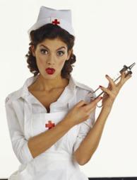 Sykepleiere er sexy - selv med sykt store sprøyter!