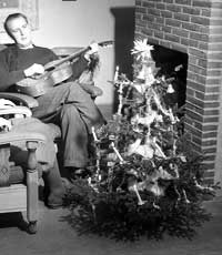 MØRKT I NARVIK: Ikke noe juletre i år.