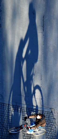 Lav novembersol gir ekstra lange skygger. (Foto: Ronald Toppe)