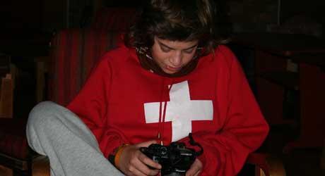 FOTOGRAF: Luca tar fotografier på reisene.
