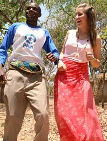 EKSOTISK: Marita er på tur i Afrika.