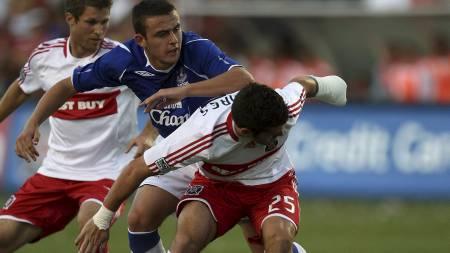 ARRESTERT: Evertons Jose Baxter. (Foto: JONATHAN DANIEL/AFP)