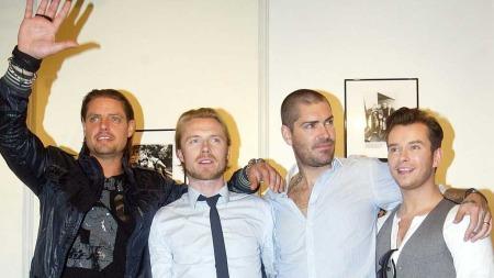 COMEBACK: Før jul i fjor var «Boyzone» på plass i Oslo for å delta på innspillingen av «Senkveld». Nå er bandet i sorg etter at Stephen Gately døde.