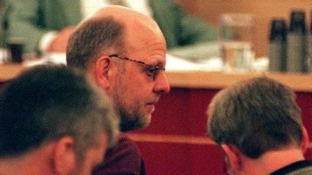 Bilde fra Stockholms tingsrett i 1998, hvor Thomas Quick ble dømt for å ha tatt livet av Therese Johannessen ti år tidligere.  (Foto: Løchen, Per/SCANPIX)