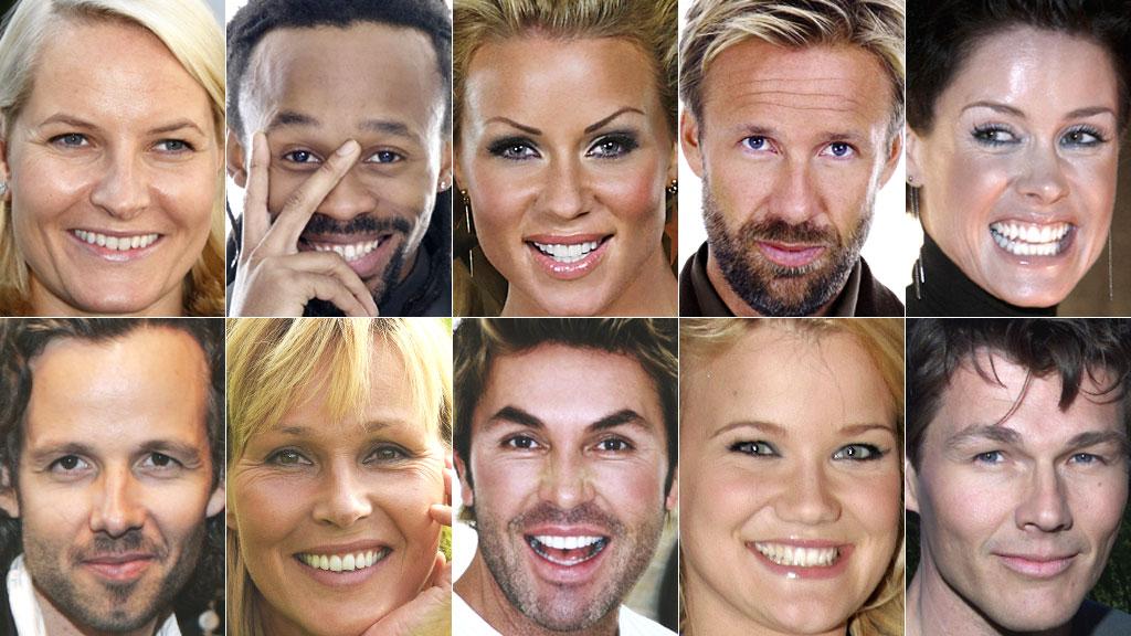 KJENTE FJES: På «KjendisNorge» finner du alt du trenger å vite om hundrevis av norske kjendiser.