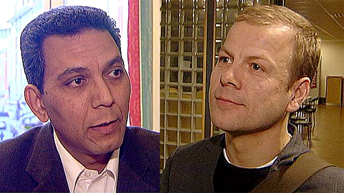 Akthar Chaudhry og Heikki Holmås (Foto: Montasje / TV 2)