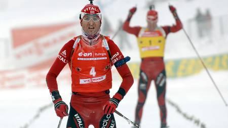 Norway's Ole Einar Bjoerndalen  (Foto: OLIVIER MORIN/AFP)