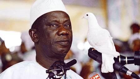 Guineas president Lansana Conte ble 74 år gammel.  (Foto: SEYLLOU/AFP)