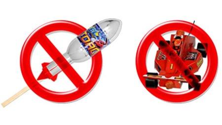 Forbudte fyrverkeriprodukter. (Foto: NPB)
