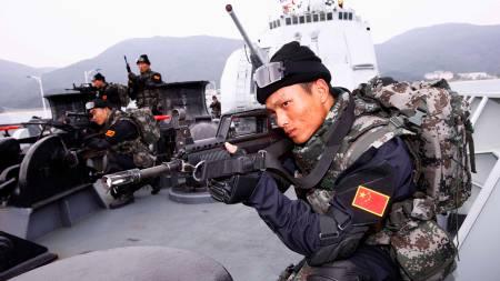 Den kinesiske marinen settes inn i kampen mot piratene i Aden-bukta.  (Foto: XINHUA/REUTERS)