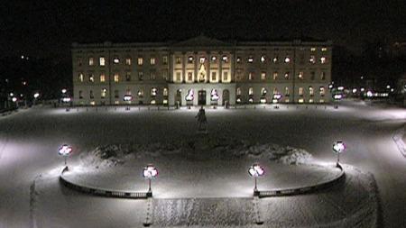 Slottet kongens nyttårstale (Foto: NRK / TV 2)