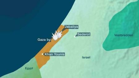 Harde kamper mellom israelske soldater og palestinsk milits på Gazastripen.