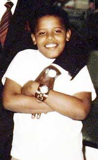 Barack Obama 10 år gammel (Foto: AP)