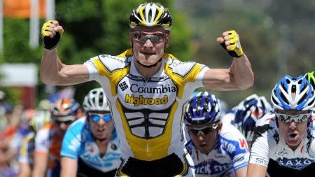 SLUTT PÅ JUBELEN: André Greipel er ute av Tour Down Under.  (Foto: DAVE HUNT/EPA)