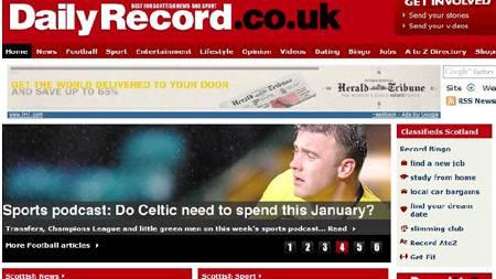 Daily Record (Foto: Fasimile/Daily Record/)