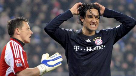 Bayern's Luca Toni  (Foto: Marcus Brandt/EPA)