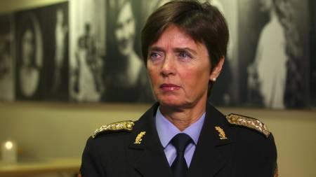 Politidirektør   Ingelin Killengren vil ha færre politidistrikt. (Foto: Sigurdsøn, Bjørn/SCANPIX/)