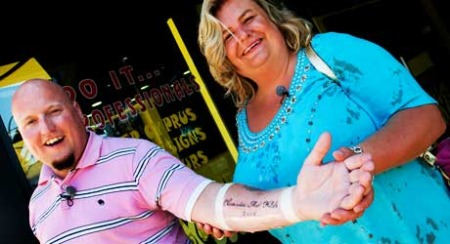 TATOVERING: Hildes date Christian tatoverte seg til minne om turen.
