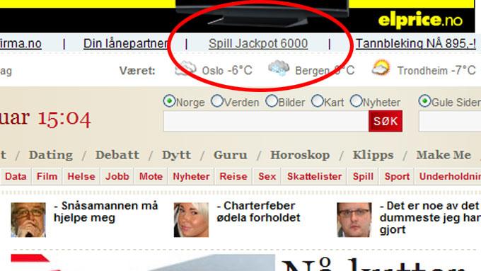 Sol.no jackpot-6000 (Foto: Faksimile / www.sol.no)