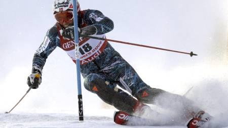 Aksel Lund Svindal slalåmdelen i val d'isere (Foto:   SERGEY PONOMAREV/AP)