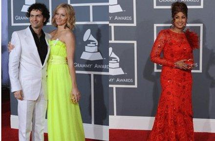 SELVLYSENDE: Dweezil Zappas kone dukket opp i en neongul kjole, Doriona Clark Cole var ikke fult så selvlysende.