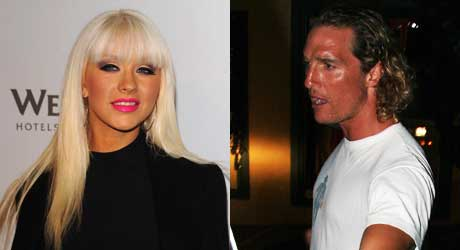 TANNING OVERLOAD 3: Frk. Aguilera ser mest oransje ut, og Matthew McConaughey heier på solarium. Solkrem er for pyser.