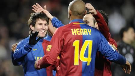 HYLLER MESSI: Thierry Henry.  (Foto: MANU FERNANDEZ/AP)