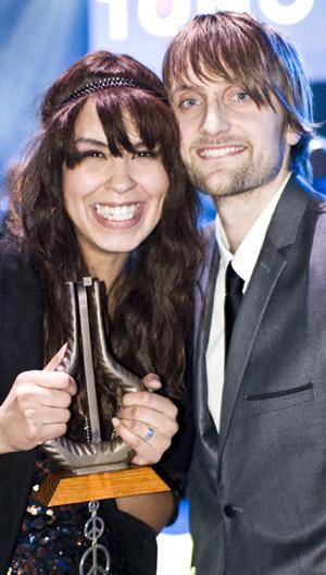 VANT: da Maria Mena vant Spellemann for Årets kvinmnelige artist,   var kjæresten Eivind Sæther den første til å gratulere henne.