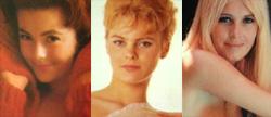 FØRST: Kari Knudsen (t.v.), Unne Terjesen og Liv Lindeland var de tre første norske jentene som kastet klærne i Playboy.
